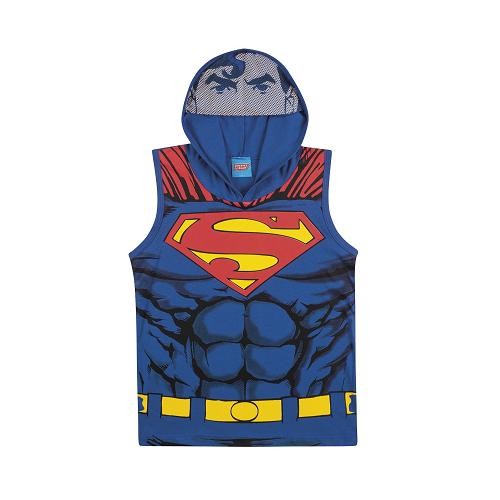 Camiseta Regata com Capuz e Viseira do Superman
