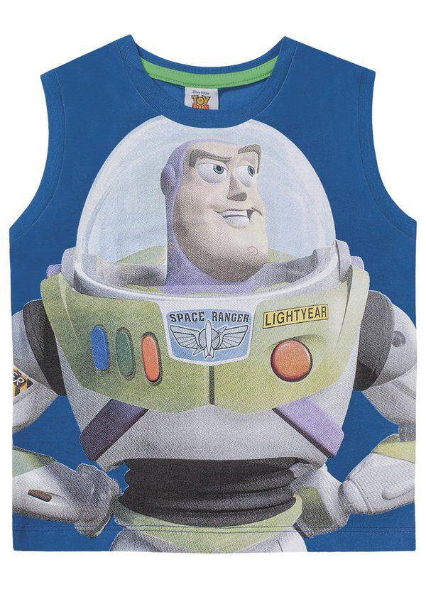 Camiseta Regata Infantil Menino Toy Story Buzz Lightyear