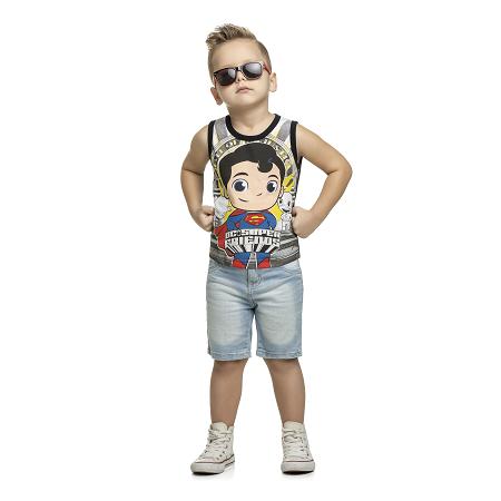 Camiseta Regata Superman Liga da Justiça Baby