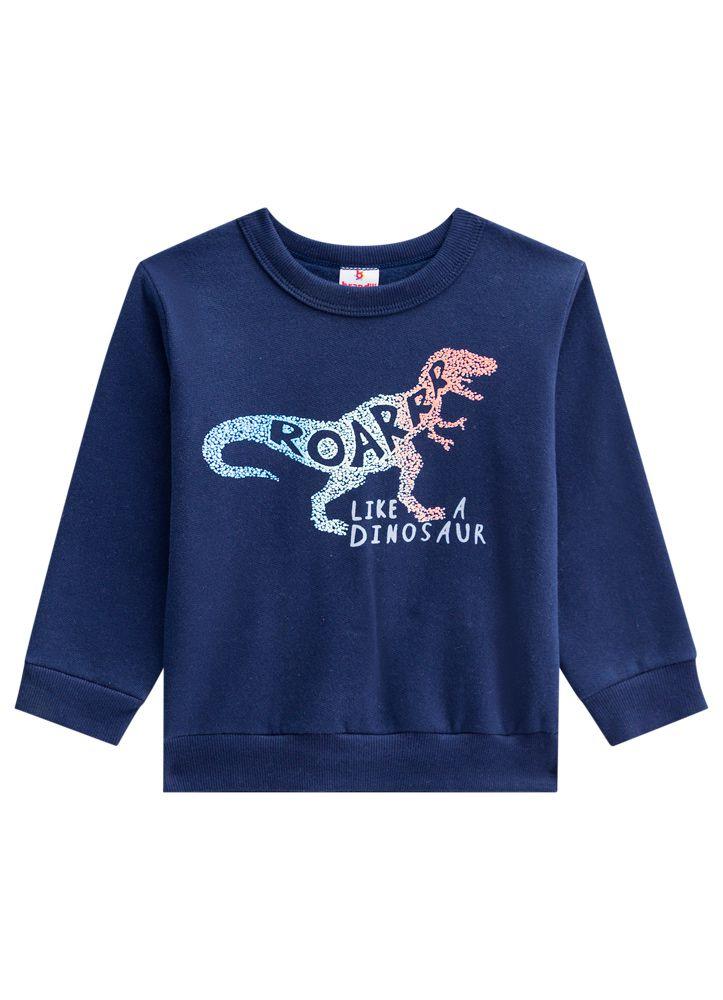 Conjunto de Moletom Infantil Menino de Dinossauro Rugir como um Dinossauro