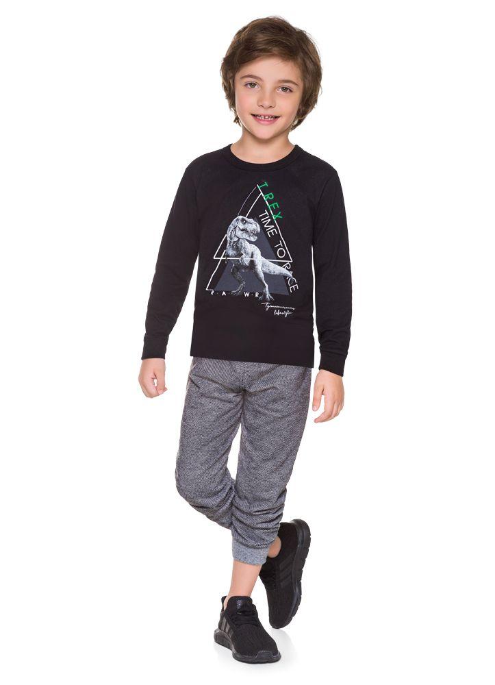 Conjunto Infantil de Dinossauro Menino
