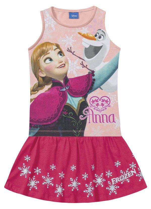 Conjunto Infantil Menina Anna e Olaf