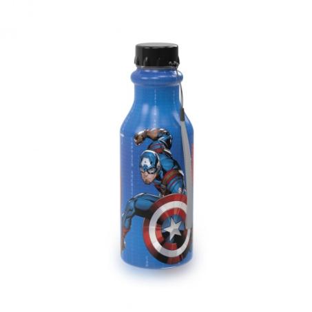 Garrafa Retrô Capitão América Vingadores Avengers