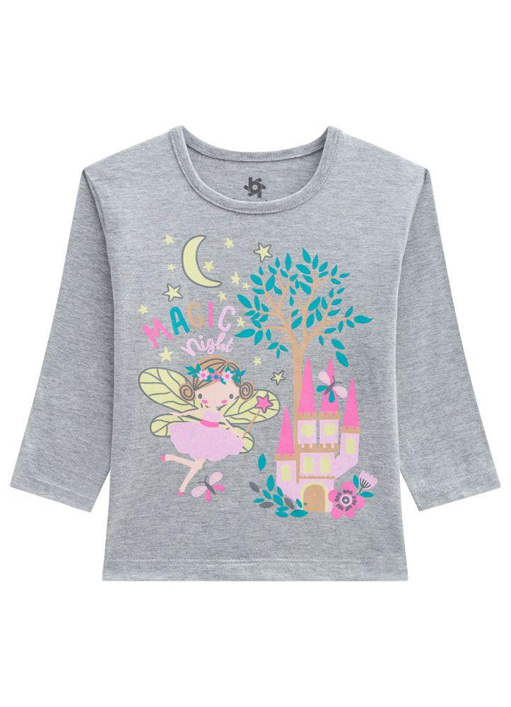 Pijama Infantil Menina Fada Estampa Brilha no Escuro