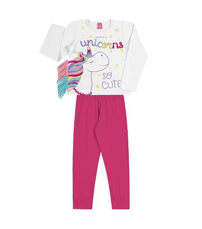 Pijama Infantil Menina Unicórnio