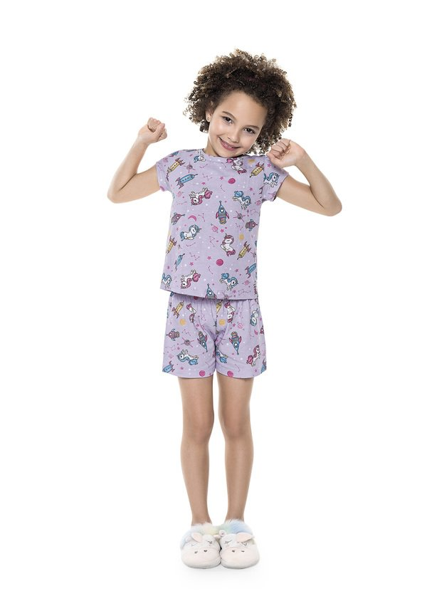Pijama Infantil Menina Unicórnio Verão