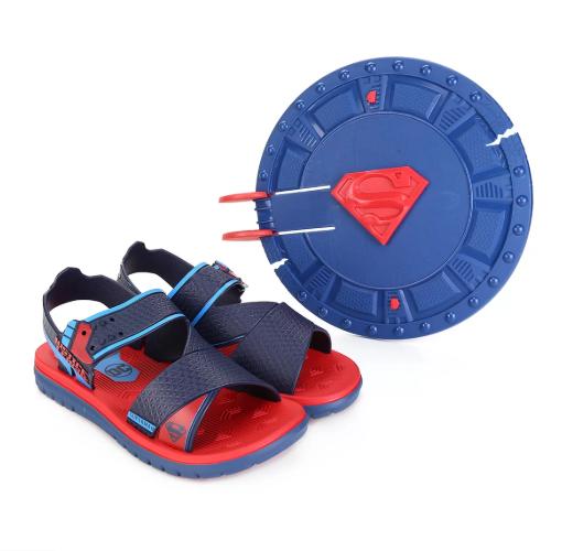 Sandália Infantil Liga da Justiça Superman com Escudo Lançador