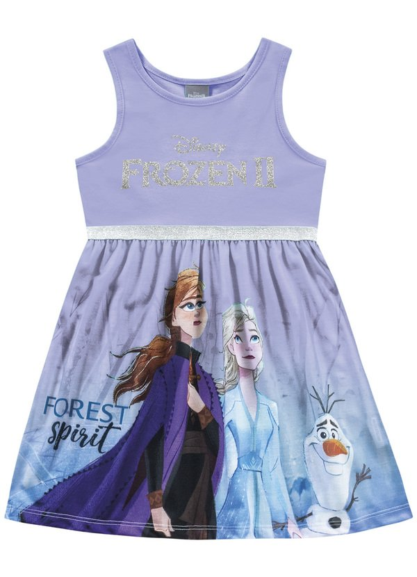 Vestido Infantil Menina Frozen Disney