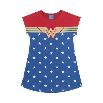Vestido Infantil Menina Mulher Maravilha Liga da Justiça