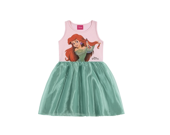 Vestido Infantil Menina Sereia Ariel Princesas Disney Tam 4