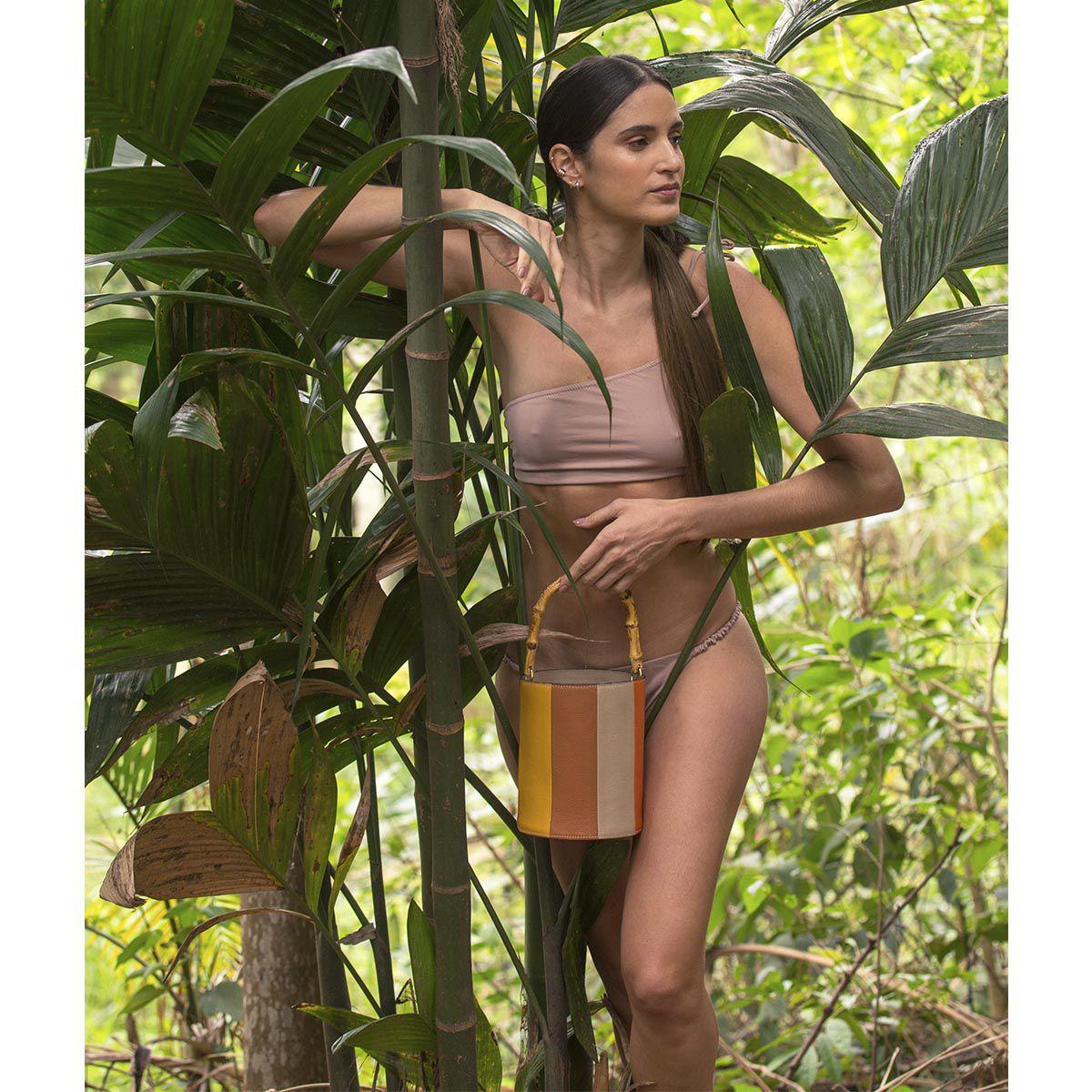 Bolsa Bucket Duo Bambu Color