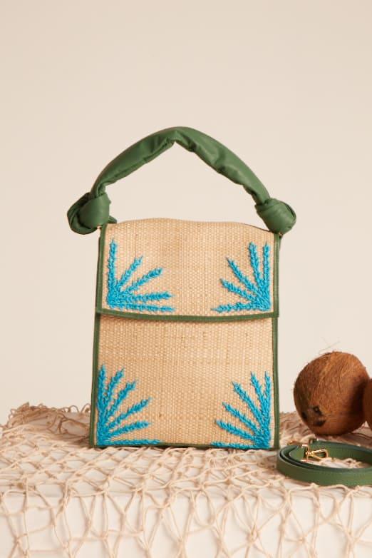 Bolsa Itapua Bordada Verde