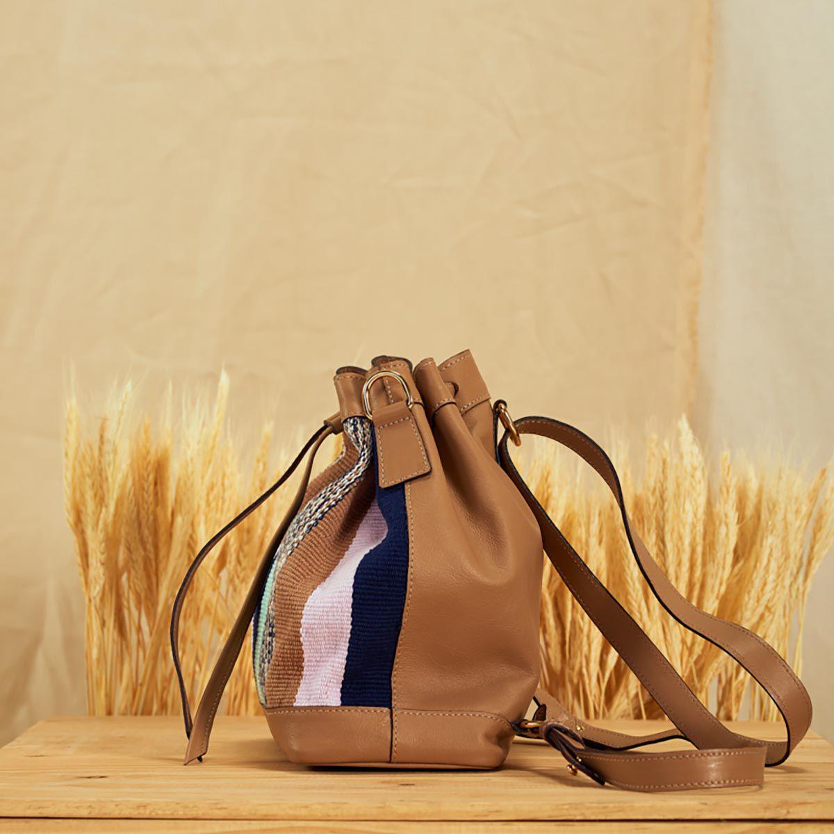 Bolsa Mini Slouchy Bag Caramelo