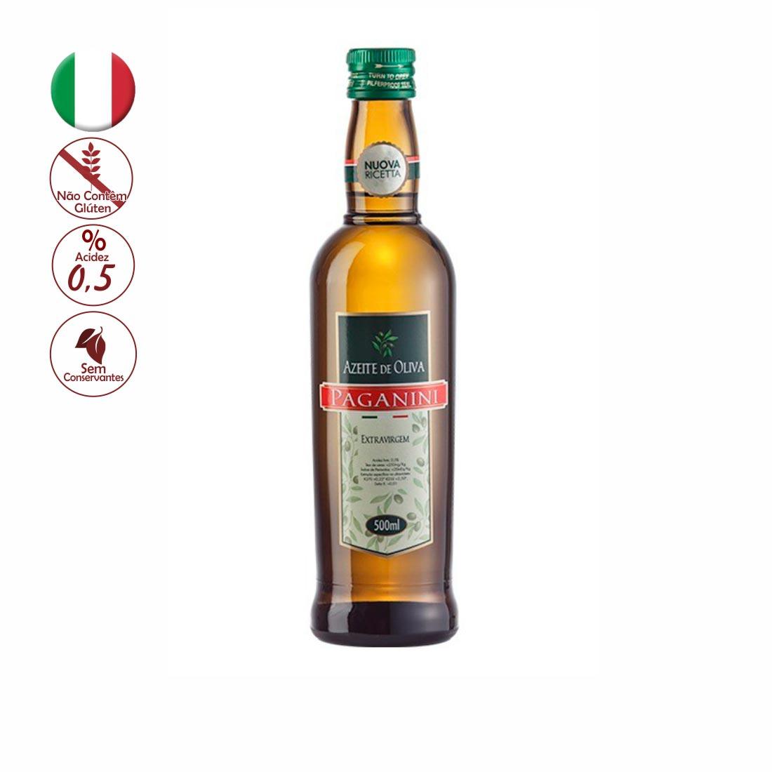AZEITE DE OLIVA EXTRAVIRGEM PAGANINI  ITALIA 500ML