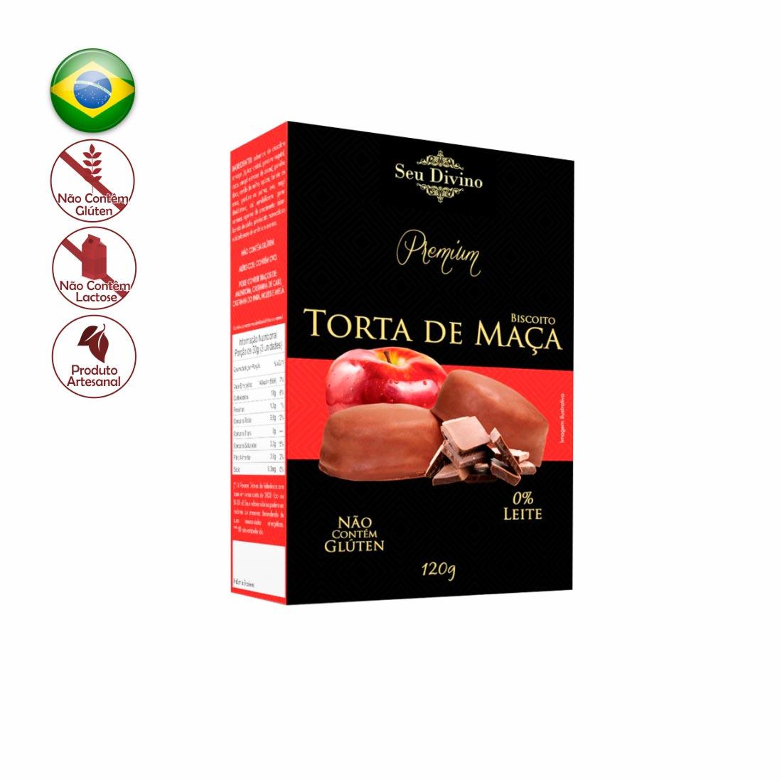 BISCOITO TORTA DE MAÇÃ PREMIUM SEU DIVINO SEM GLÚTEN E ZERO LACTOSE 120G