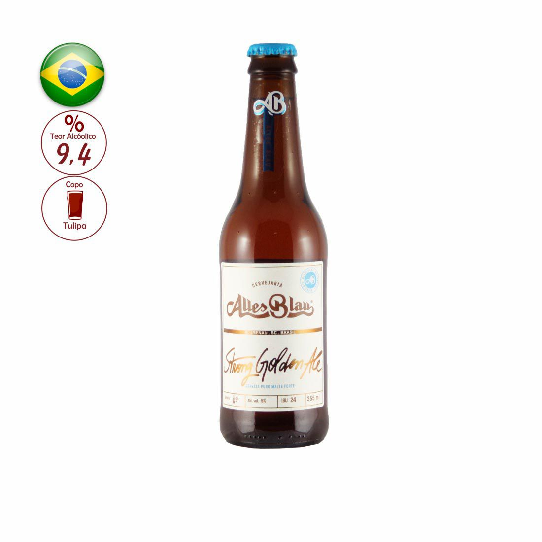 CERVEJA ALLES BLAU 355ML STRONG GOLDEN ALE