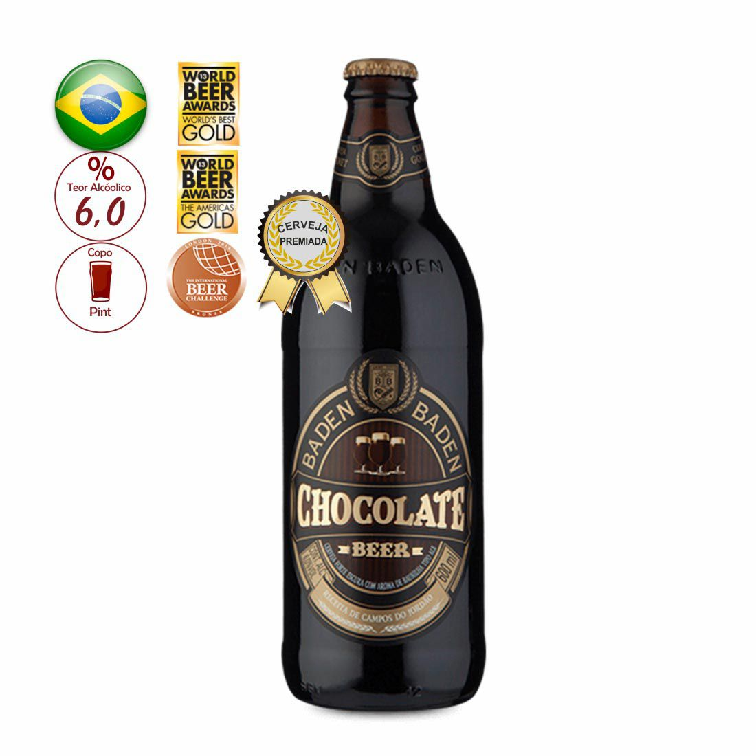 CERVEJA  BADEN BADEN 600ML CHOCOLATE BEER