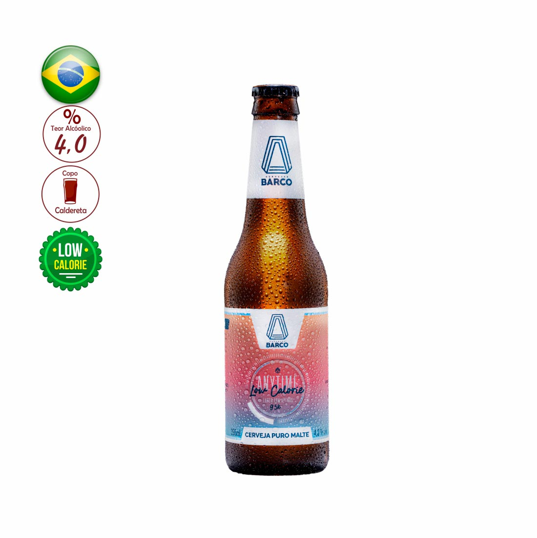 CERVEJA BARCO 355ML ANYTIME LOW CALORIE LAGER