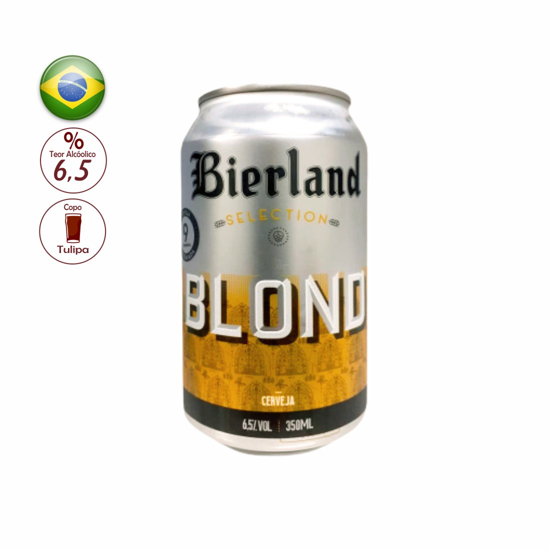 CERVEJA BIERLAND 350 ML SELECTION BLOND