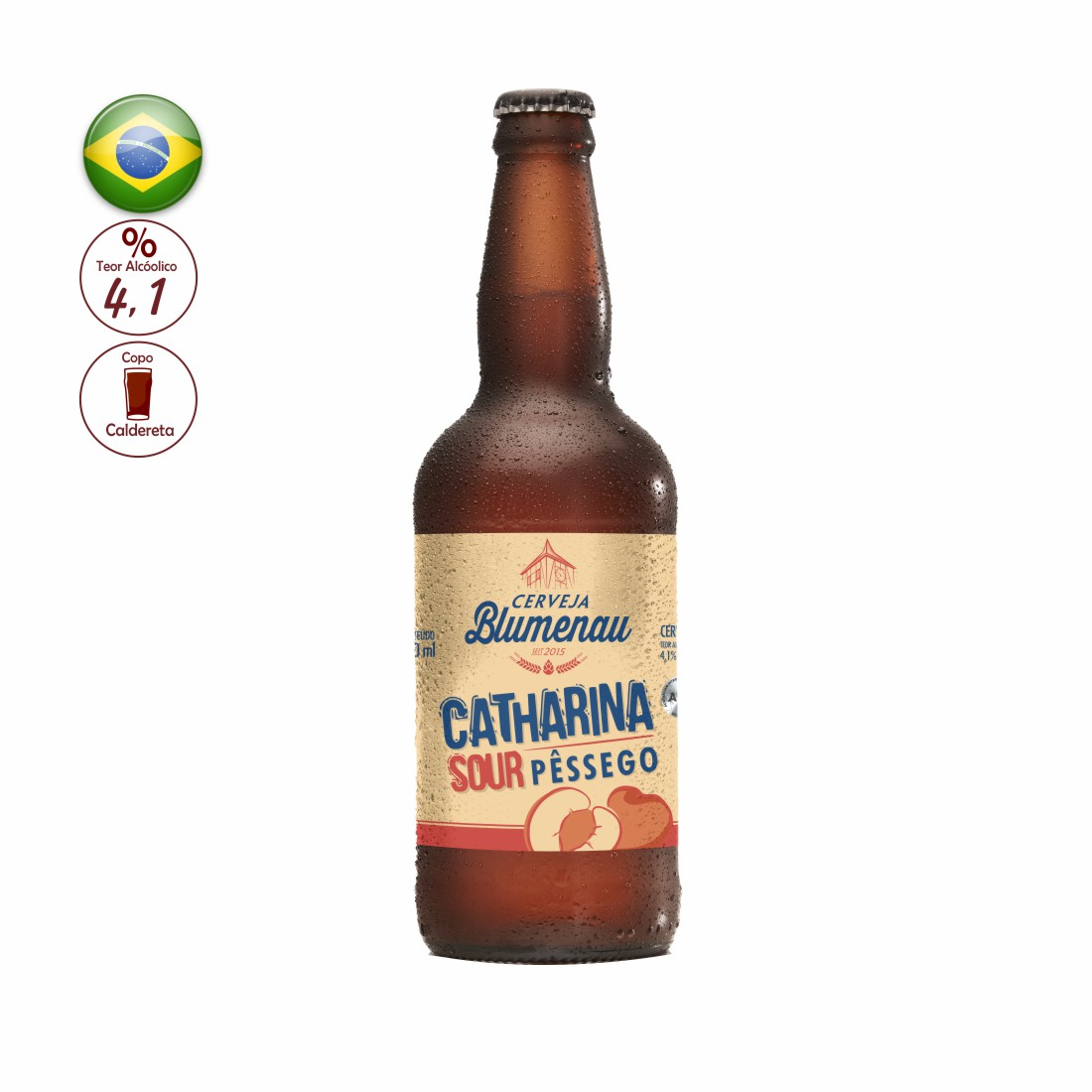 CERVEJA BLUMENAU 500ML CATHARINA SOUR SUN PEACH
