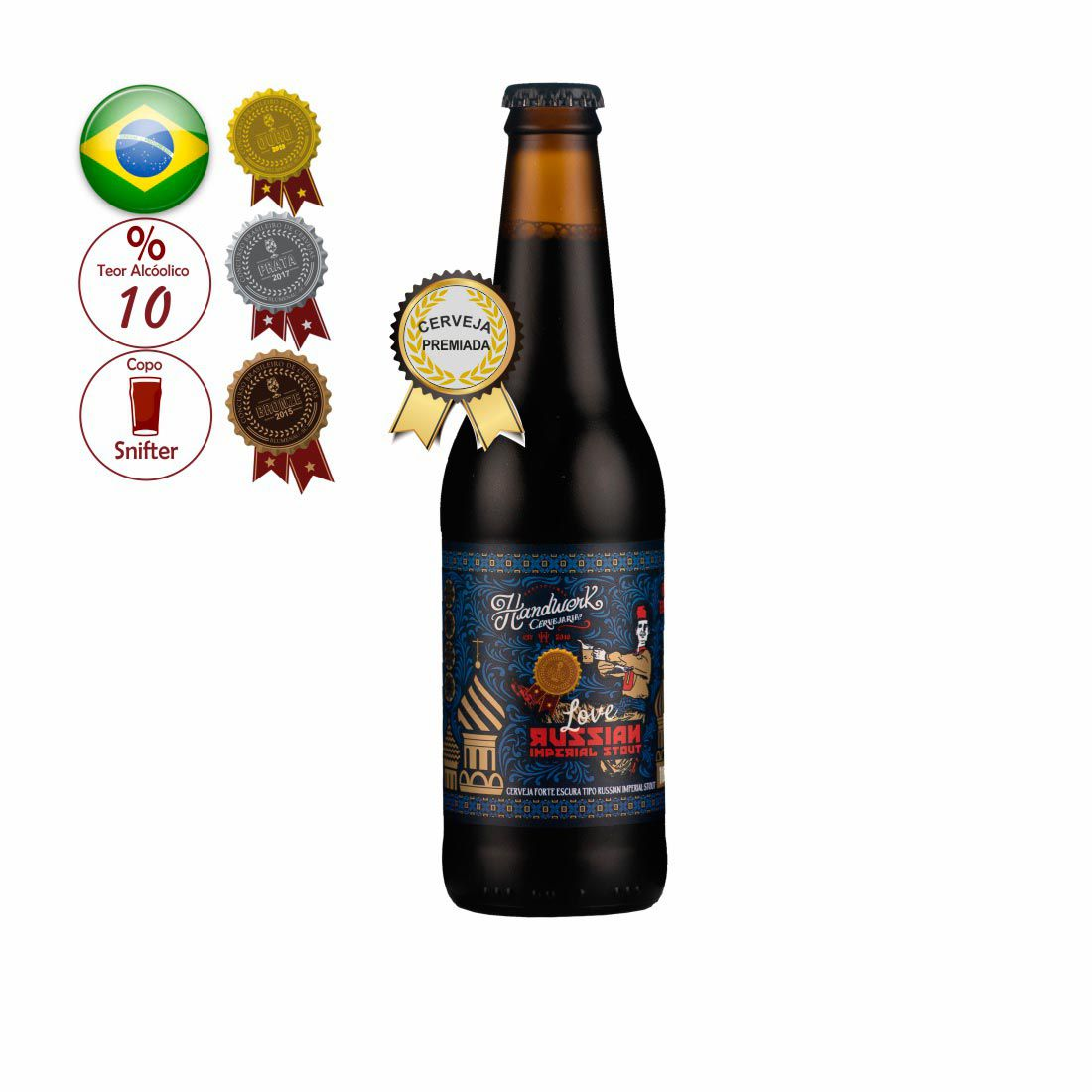 CERVEJA HANDWERK 355ML LOVE RUSSIA IMPERIAL STOUT
