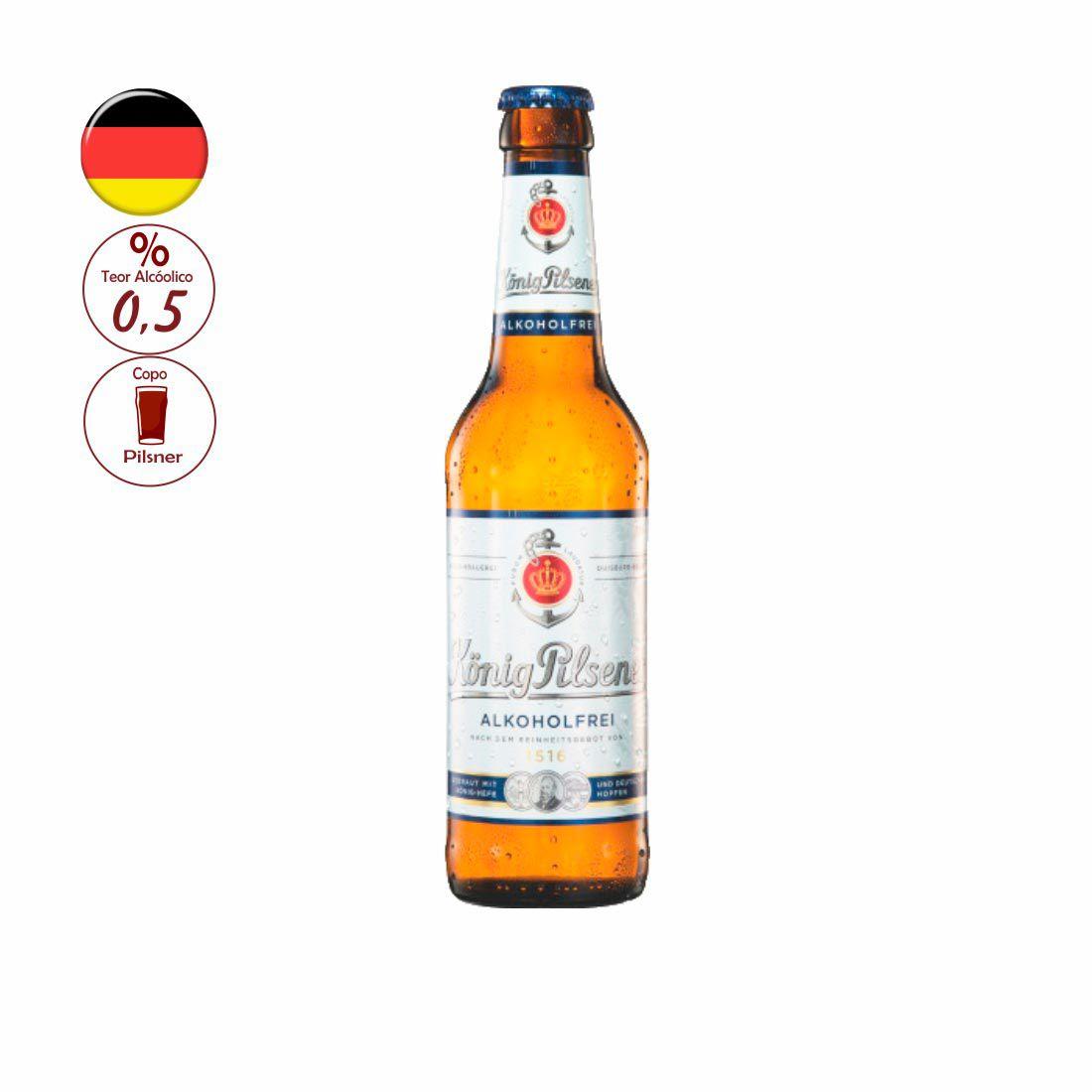 CERVEJA KONIG ALEMÃ 330ML PILSENER ALKOHOLFREI