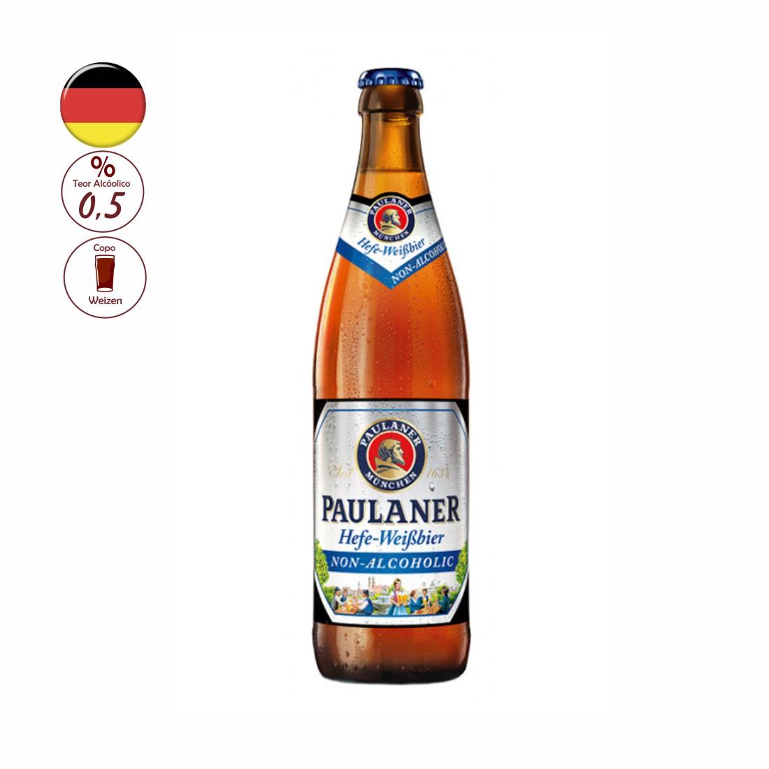 CERVEJA PAULANER 500ML HEFE-WEISSBIER ALKOHOLFREI S/ ALCOOL