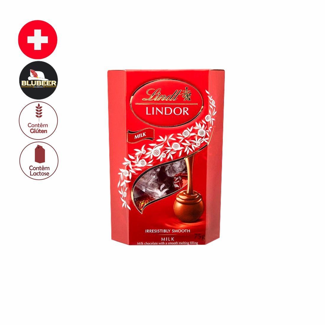 CHOCOLATE LINDOR CORNET AO LEITE 75G