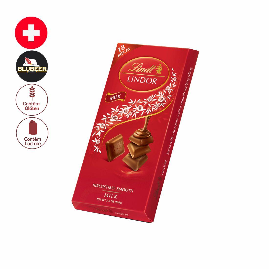CHOCOLATE LINDOR SINGLES AO LEITE 100G