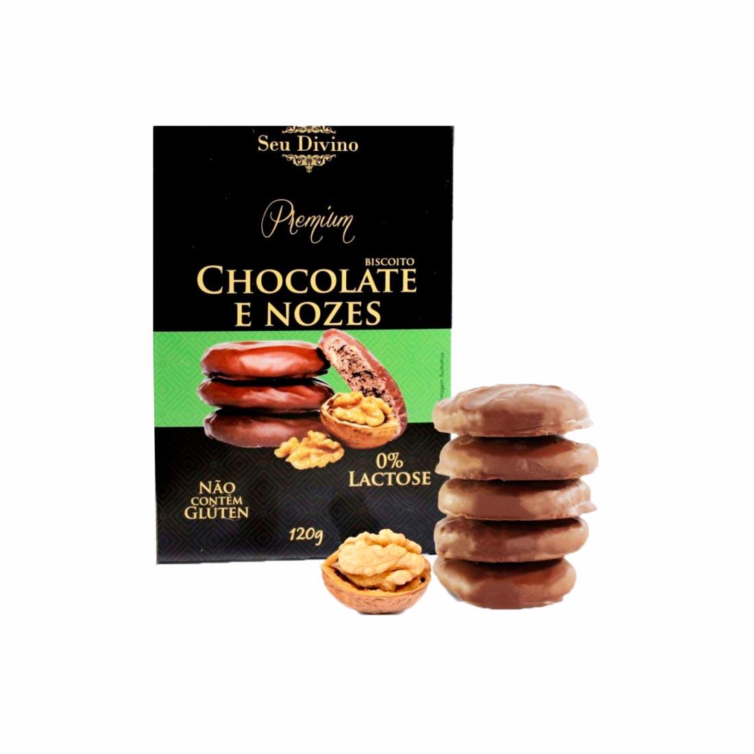 CHOCOLATE & NOZES PREMIUM SEU DIVINO S/GLÚTEN 0%LACTOSE VEGANO 120G