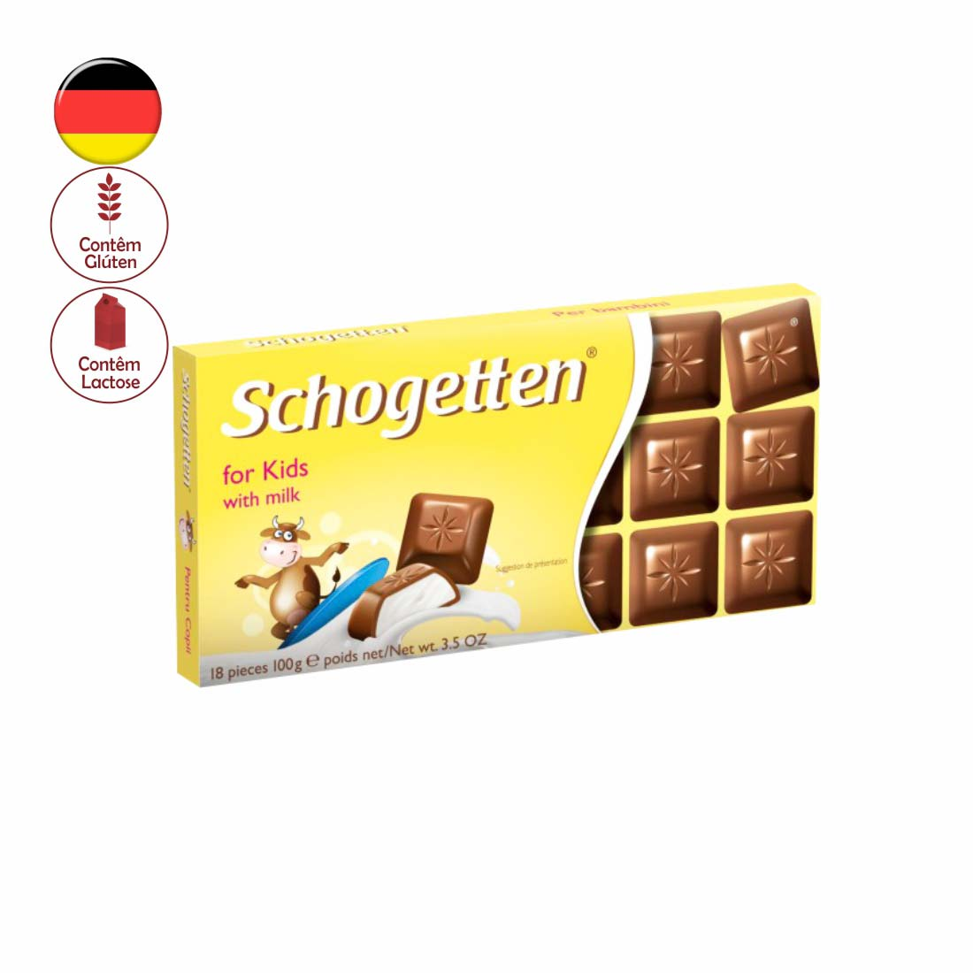 CHOCOLATE SCHOGETTEN 100G FOR KIDS MILK