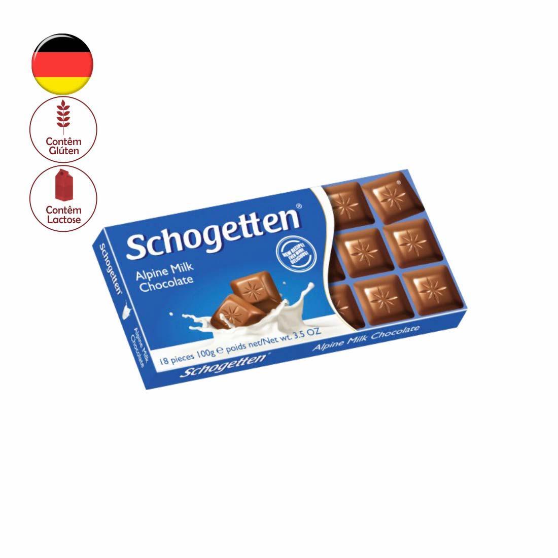 CHOCOLATE SCHOGETTEN AO LEITE 100G ALPINE MILK