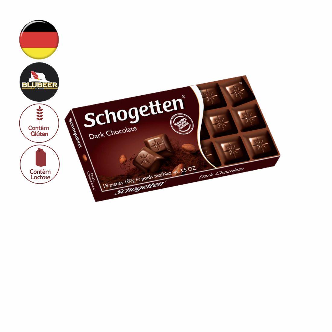 CHOCOLATE SCHOGETTEN DARK 50% CACAU 100G