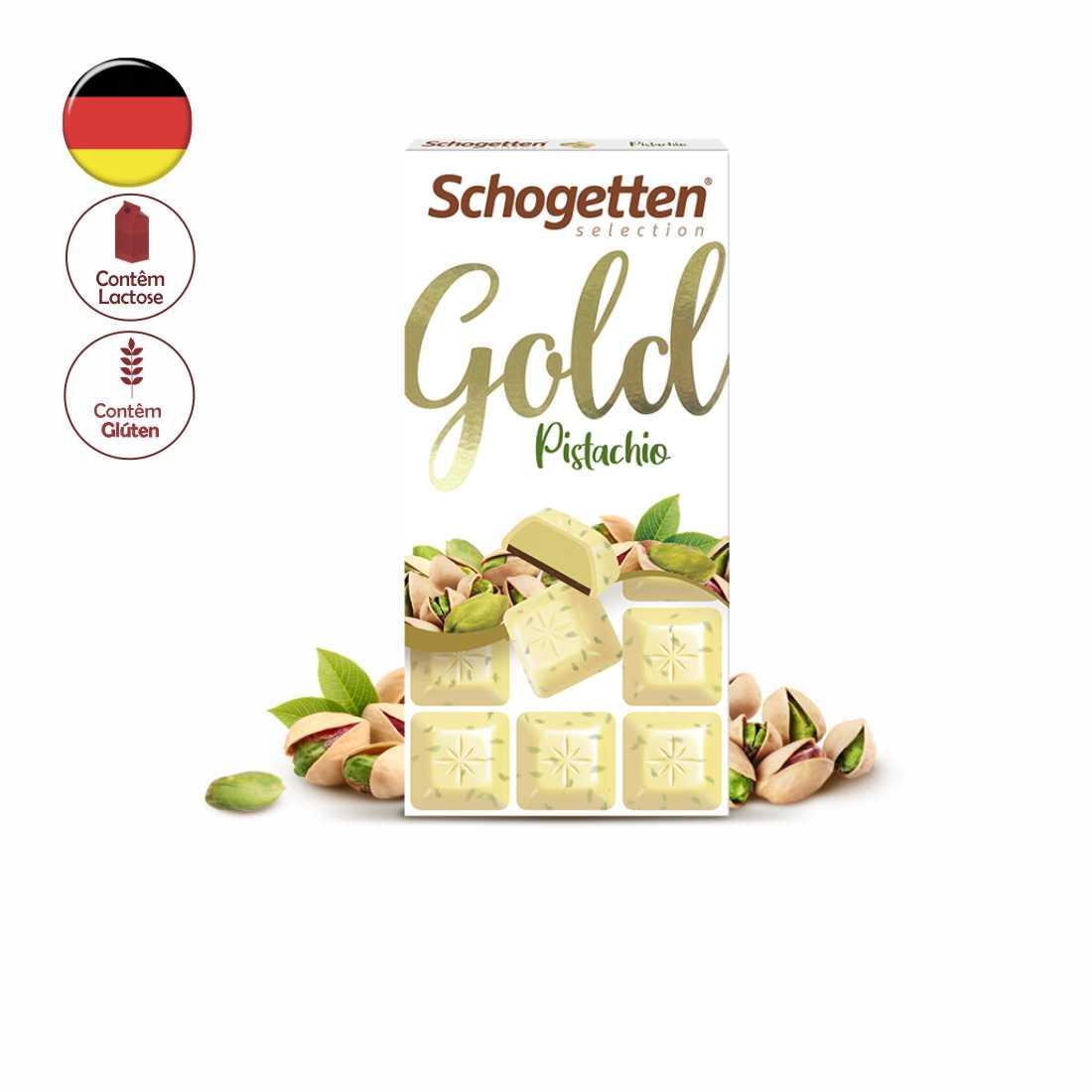 CHOCOLATE SCHOGETTEN GOLD PISTACHIO 100G