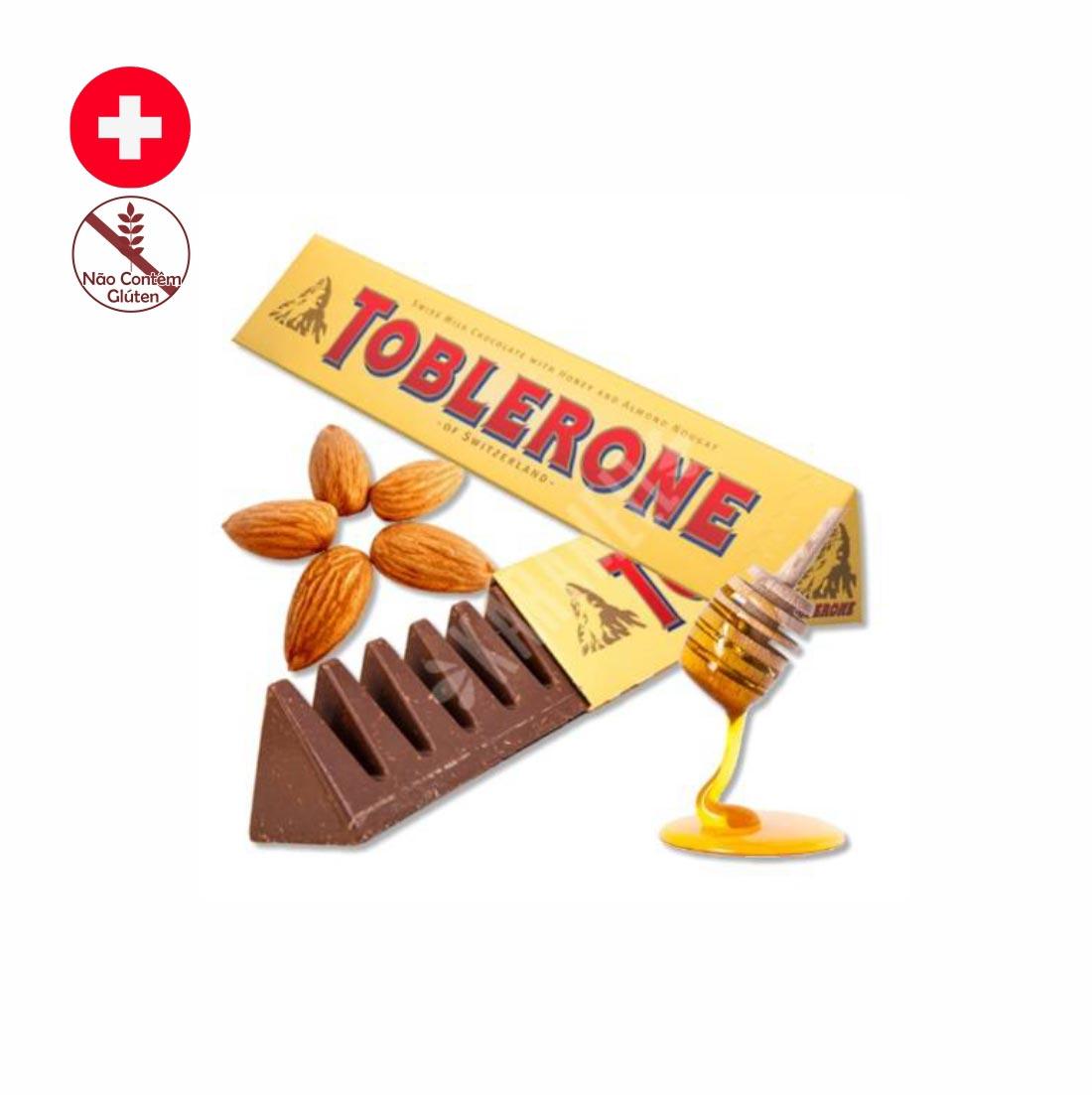 CHOCOLATE TOBLERONE MEL & AMENDOAS 100G