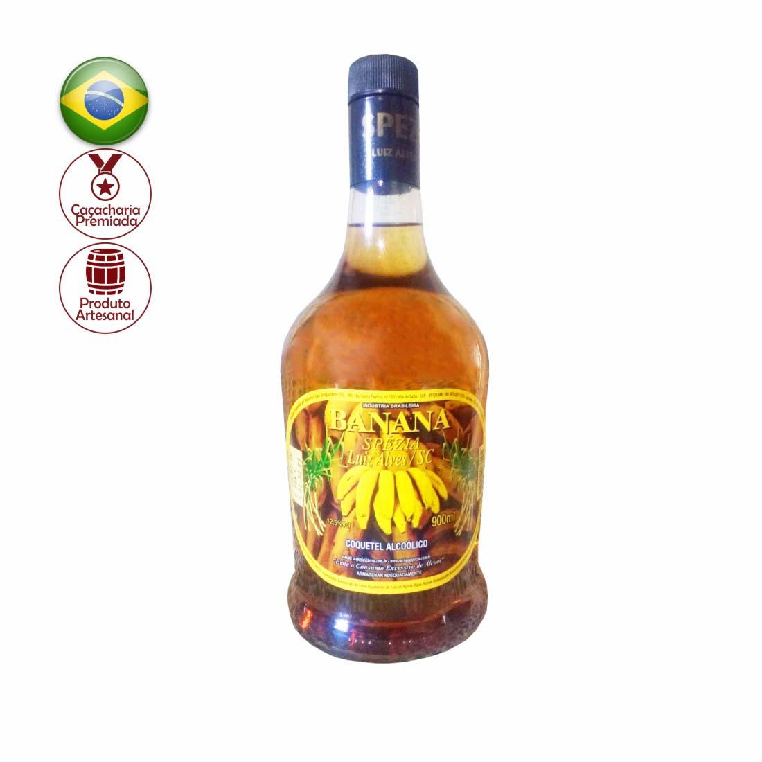 COQUETEL ALCOOLICO SPEZIA 900ML BANANA