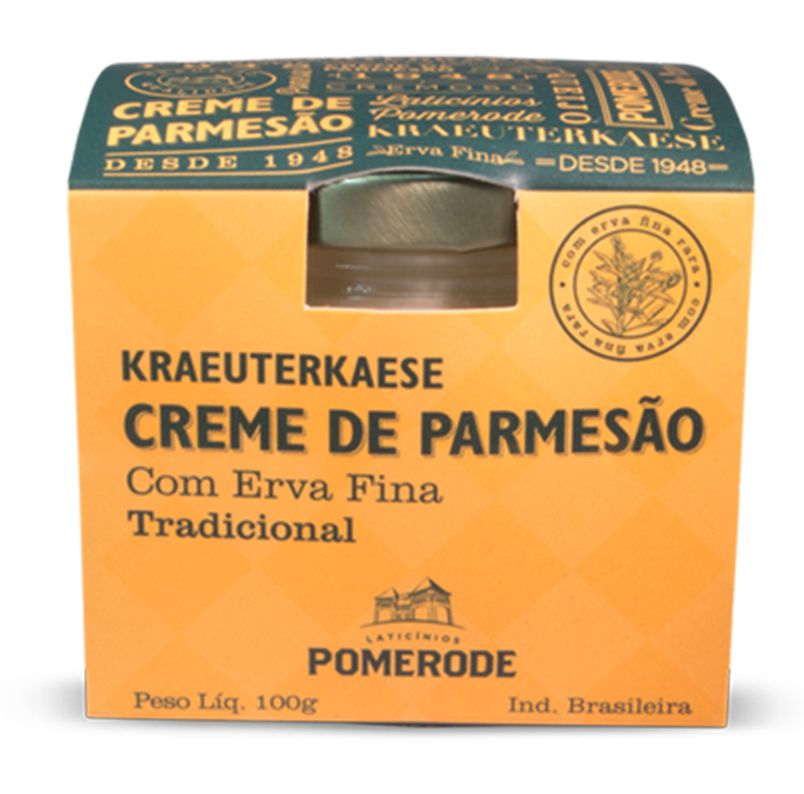 CREME DE PARMESÃO KRAEUTERKAESE ERVAS FINAS POMERODE POTE 100G