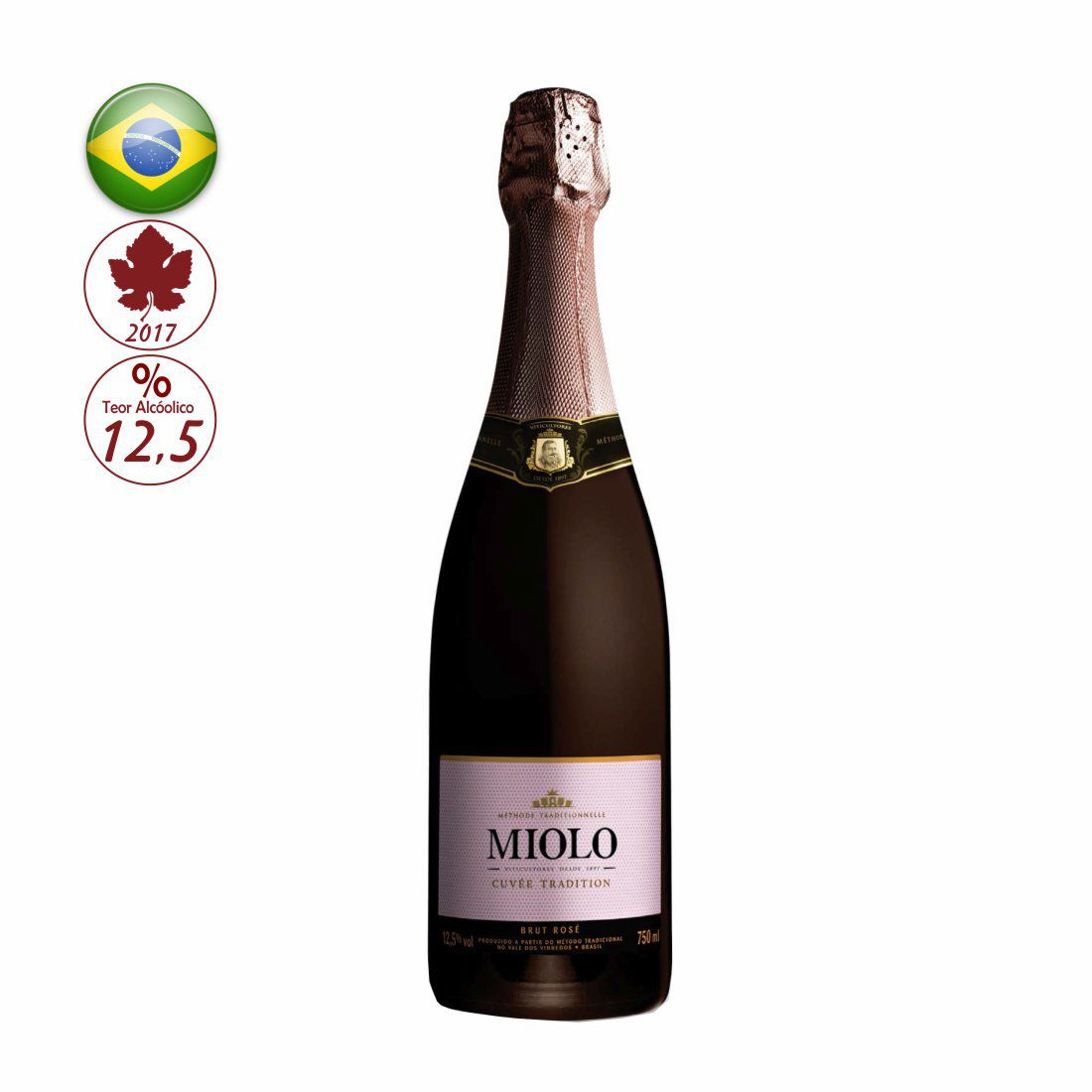 ESPUMANTE MIOLO CUVEE TRADITION 750ML BRUT ROSE