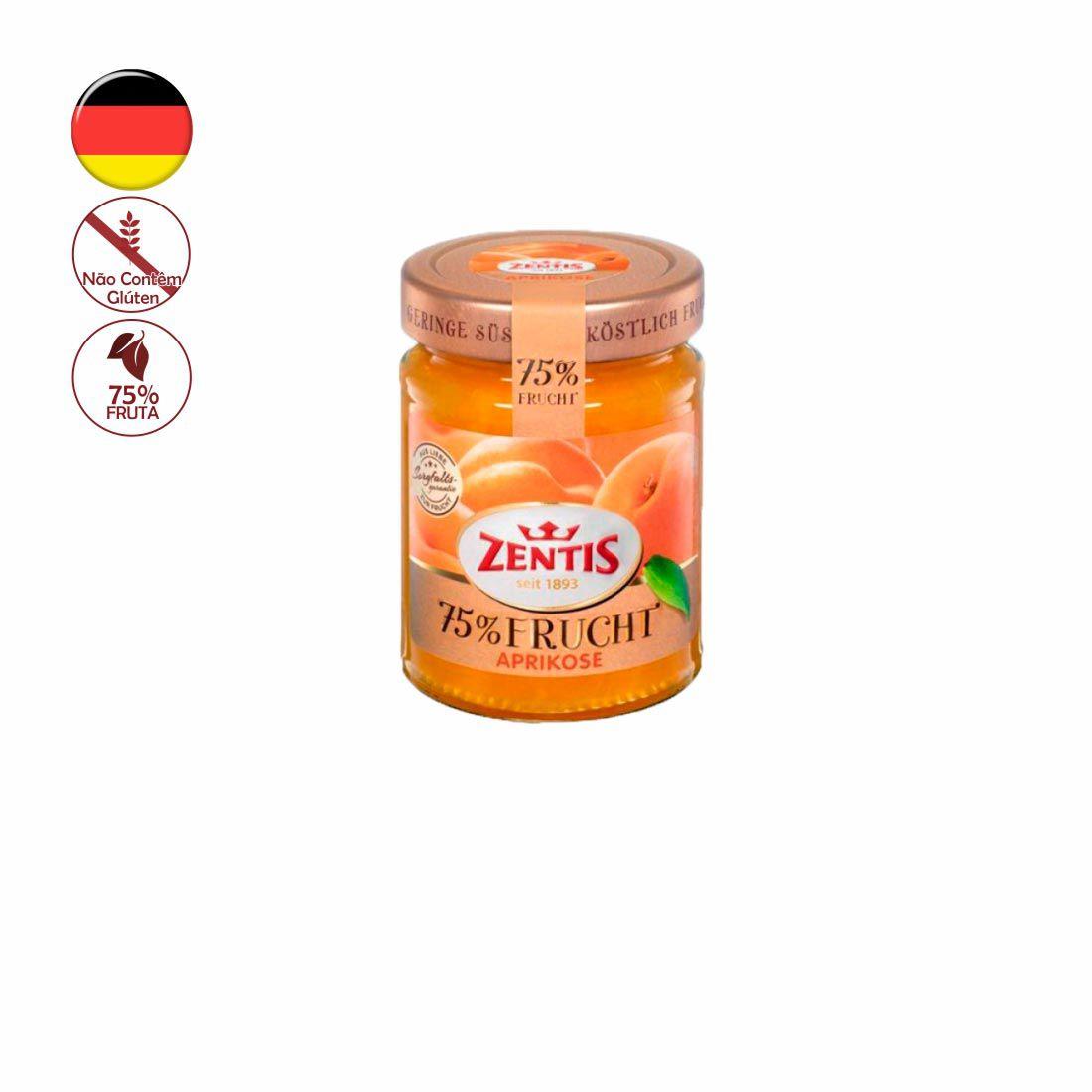 GELEIA ZENTIS DAMASCO 75% FRUTA 270G