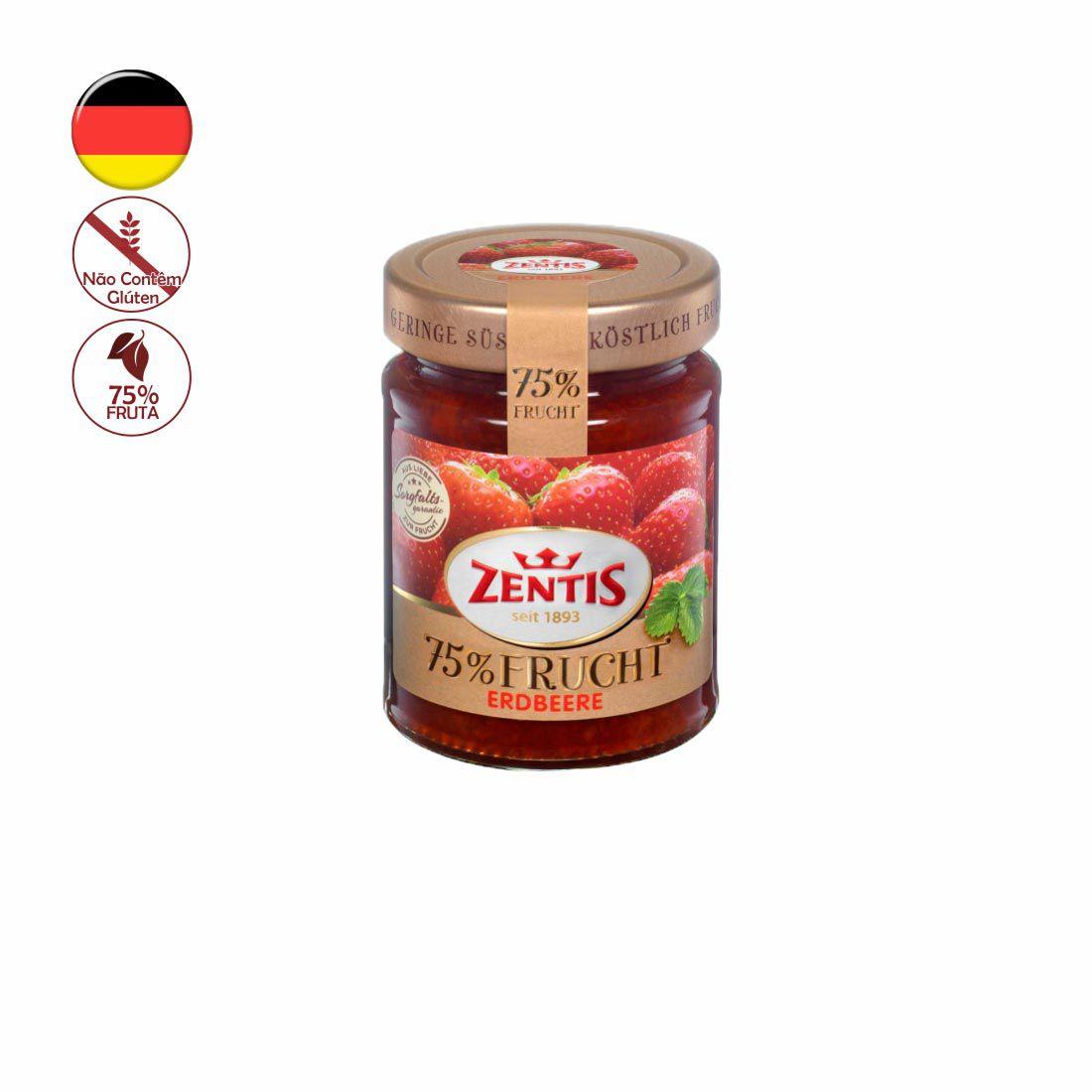 GELEIA ZENTIS MORANGO 75% FRUTA 270G