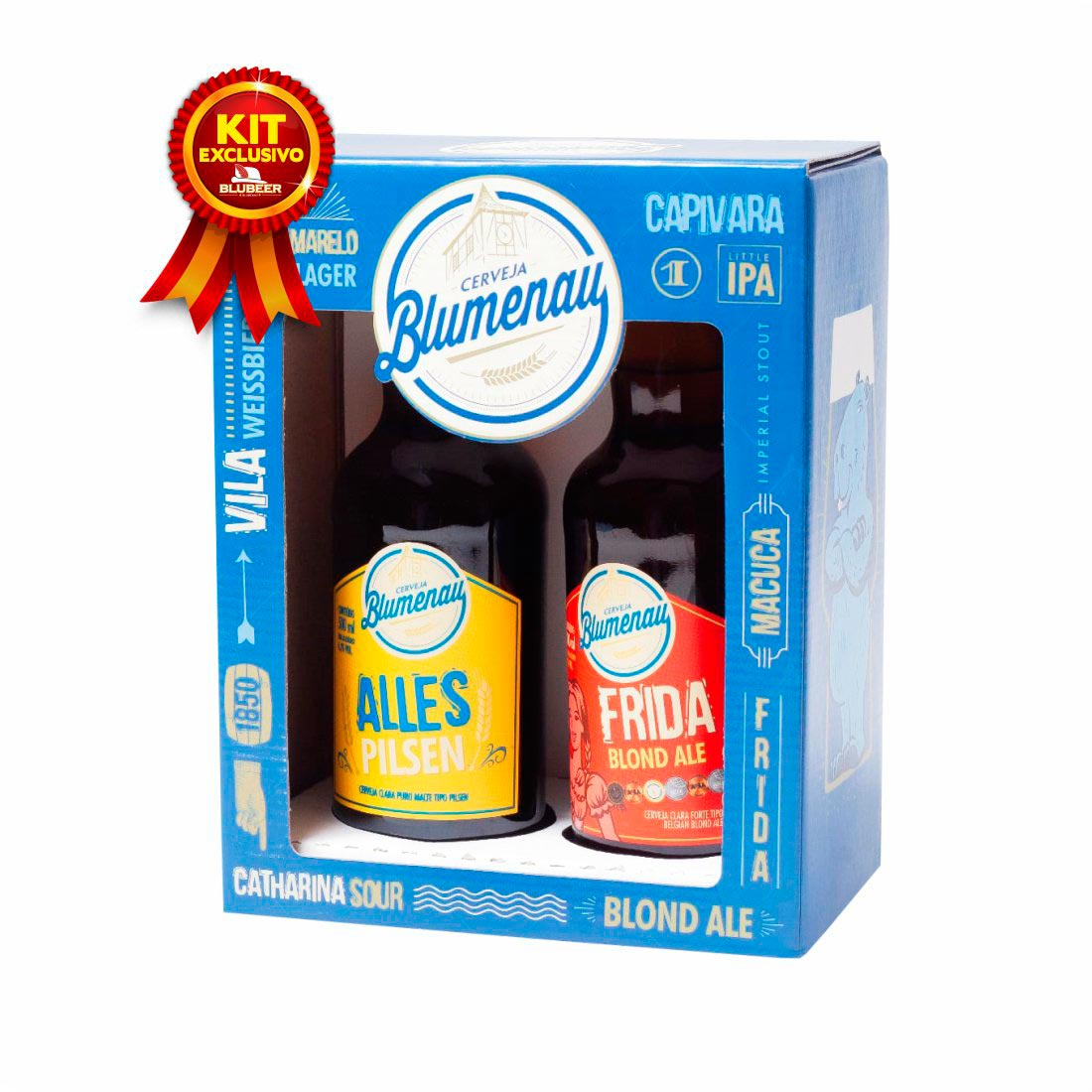 KIT BLUMENAU ALLES PILSEN + FRIDA 500ML