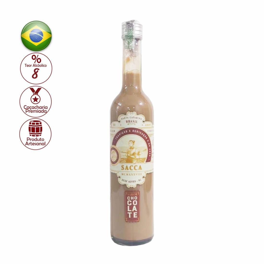 LICOR FINO SACCA 500ML CHOCOLATE