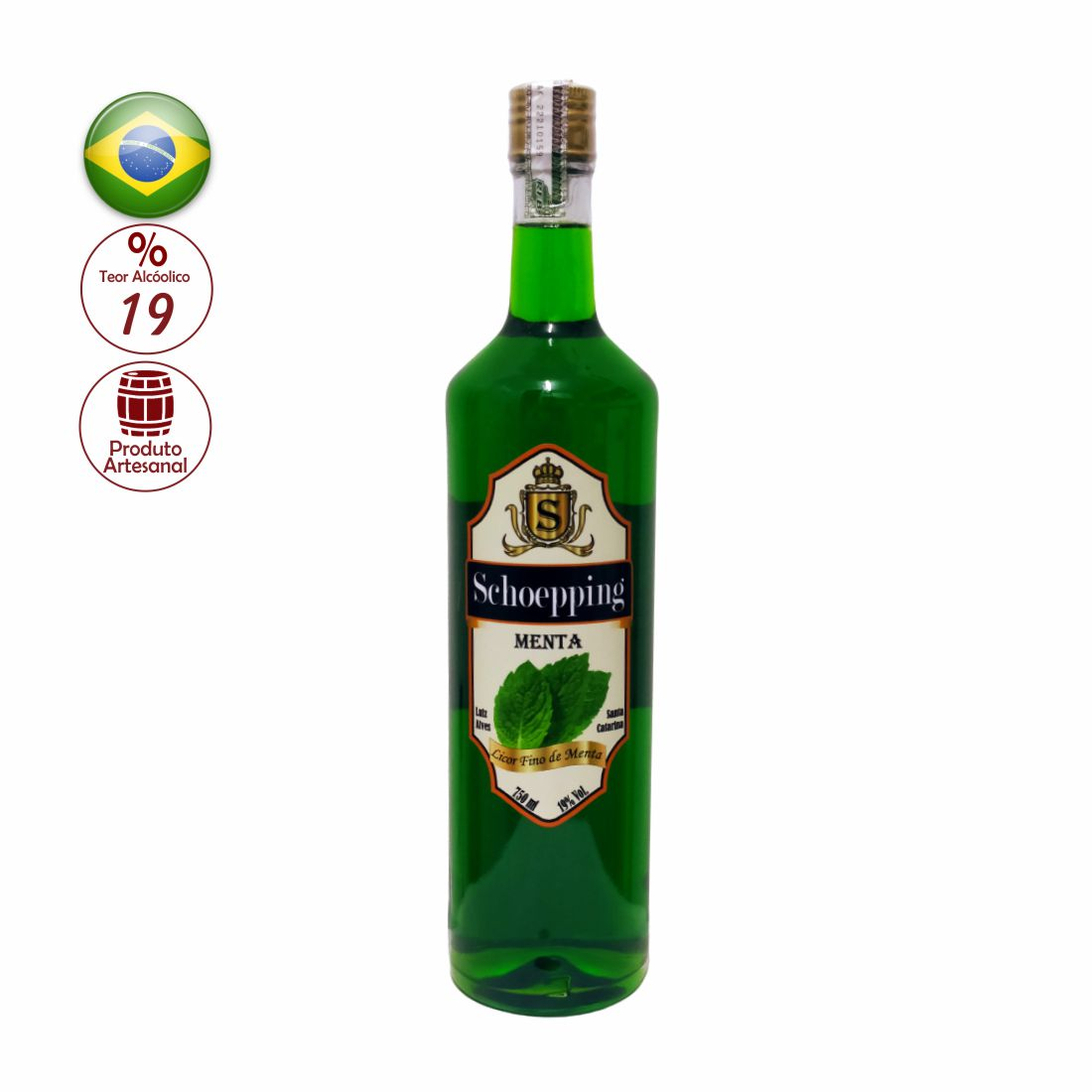 LICOR SCHOEPPING 750ML MENTA