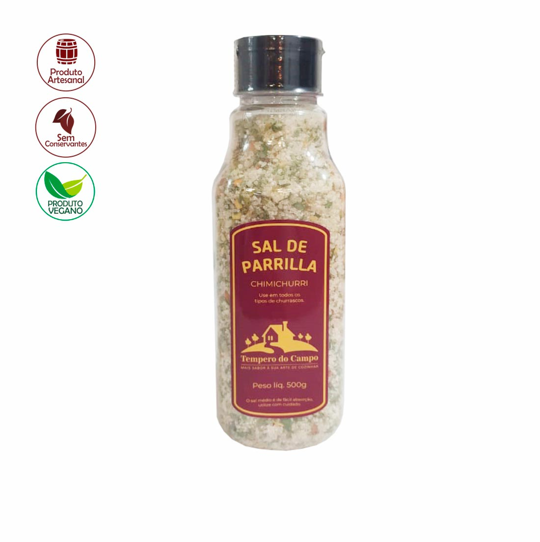 SAL DE PARRILLA COM CHIMICHURRI TEMPERO DO CAMPO 500G