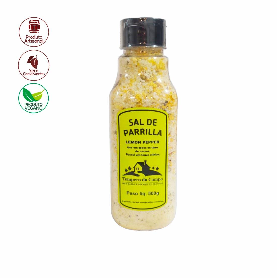 SAL DE PARRILLA COM LEMON PEPPER TEMPERO DO CAMPO 500G