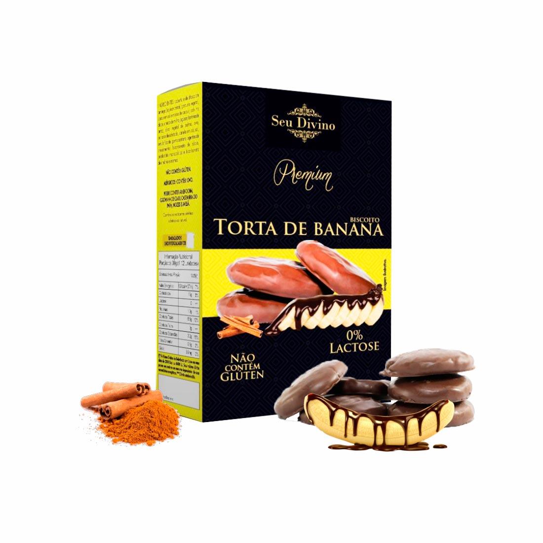 TORTA DE BANANA PREMIUM SEU DIVINO S/GLÚTEN 0%LACTOSE VEGANO 120G