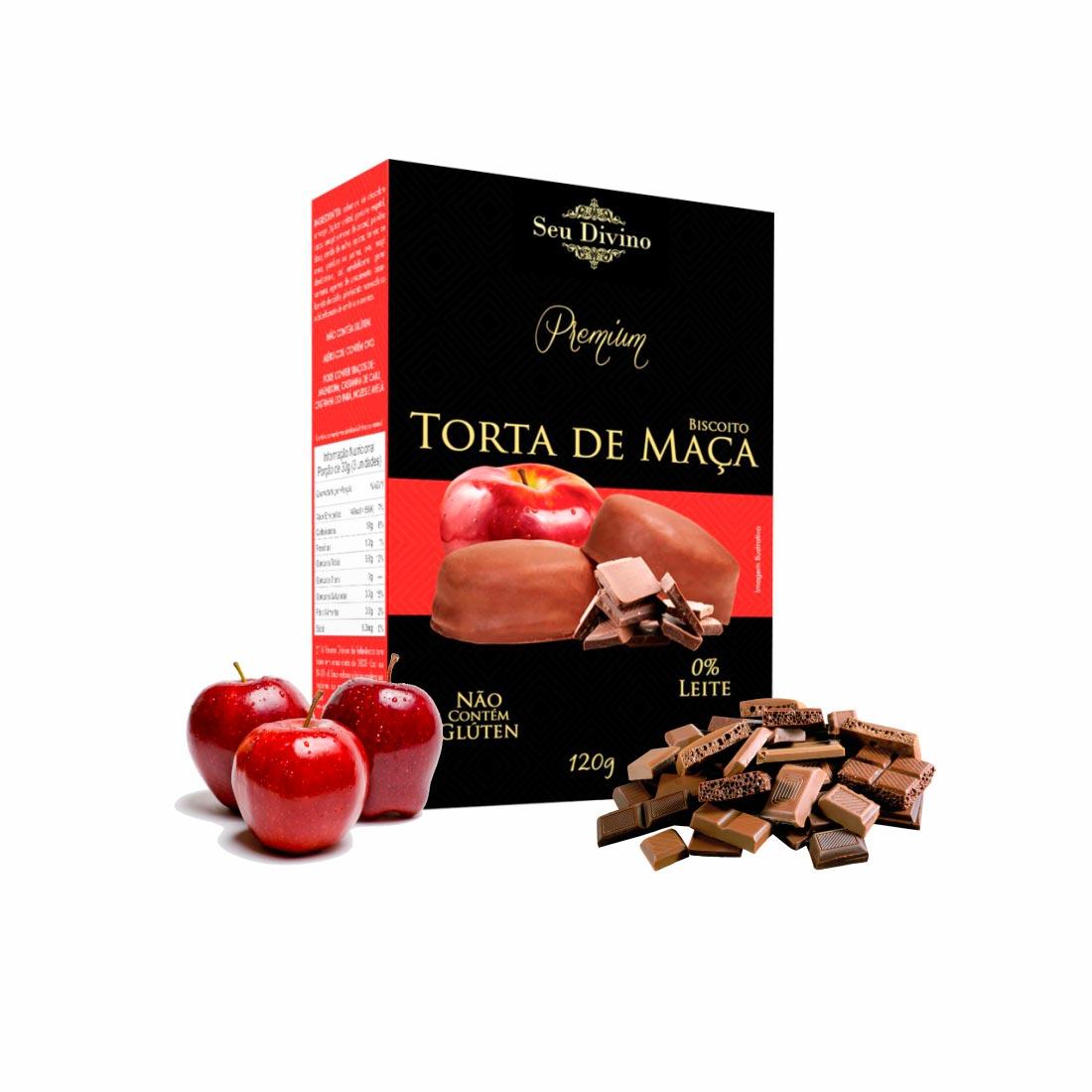 TORTA DE MAÇÃ PREMIUM SEU DIVINO S/GLÚTEN 0%LACTOSE VEGANO 120G