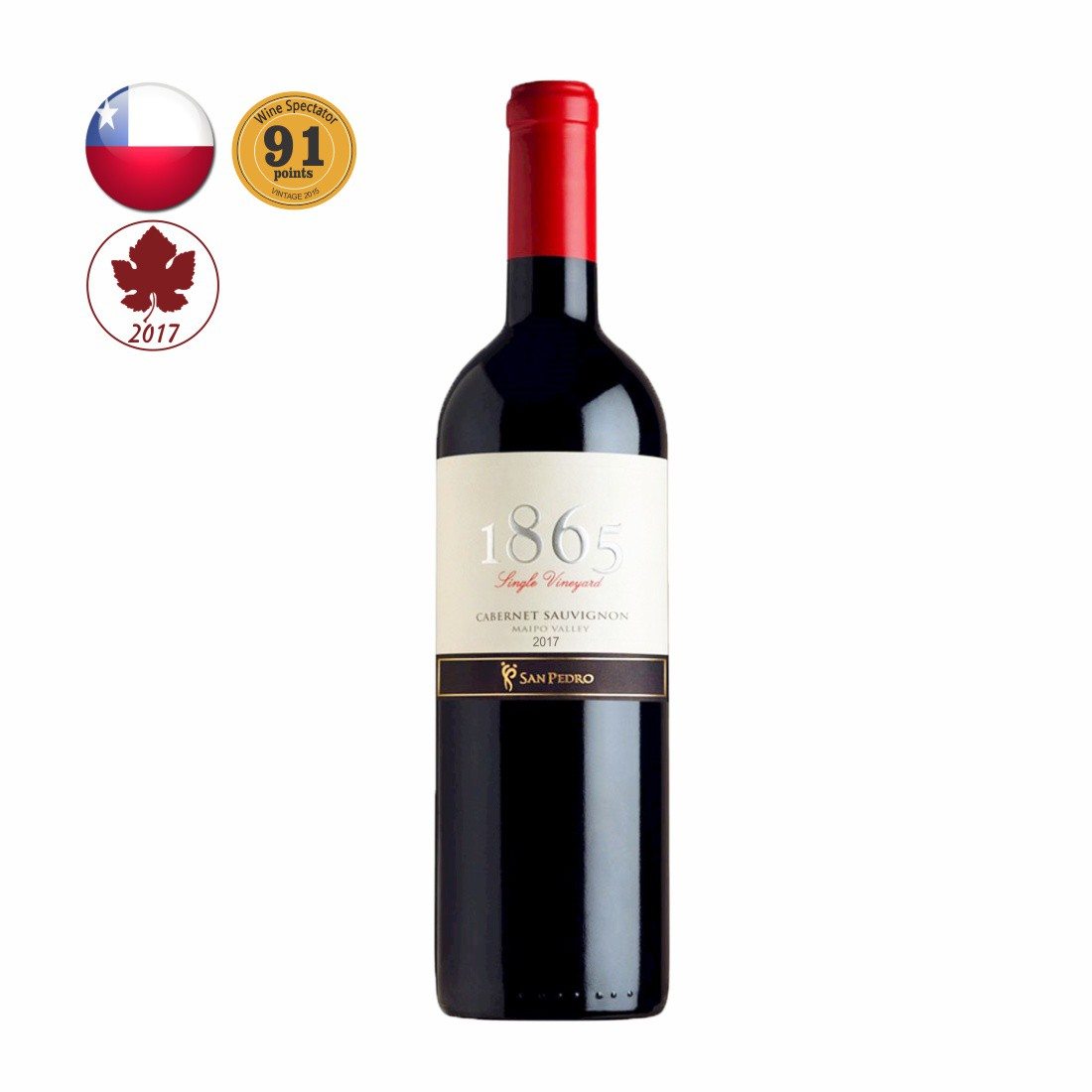 VINHO 1865 SINGLE VINEYARD CHILENO 750ML CABERNET SAUVIGNON