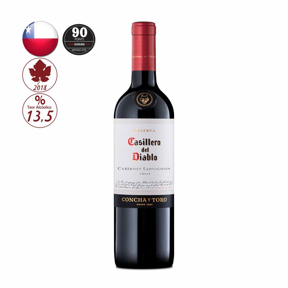 VINHO CASILLERO DEL DIABLO 750ML CABERNET SAUVIGNON
