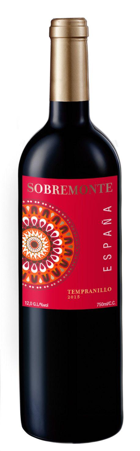 VINHO ESPANHOL SOBREMONTE 750ML - TINTO TEMPRANILLO
